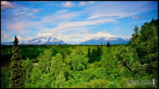 The Alaska Range, photographed in Matanuska-Susitna Borough, Alaska (31 May 2011). Day 01 of the 2011 Roadtrip from Alaska to Florida (Mile 0134 of 7221).
